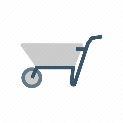 dolly, handtruck, shipping, trolley icon