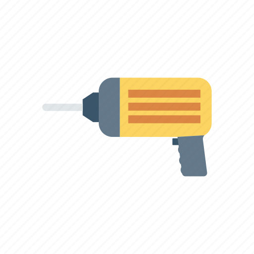 drill, jackhammer, machine, tool icon