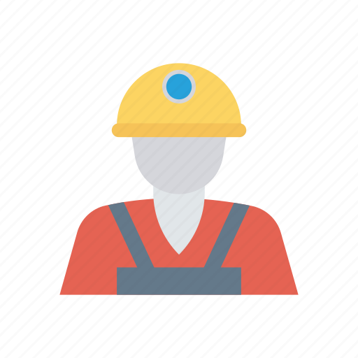 constructor, engineer, male, worker icon