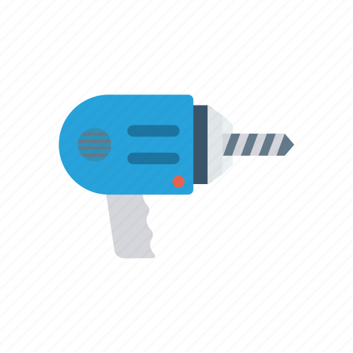 drill, jackhammer, machine, tools icon