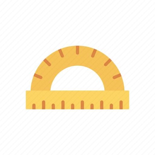 construction, measure, protractor, tool icon
