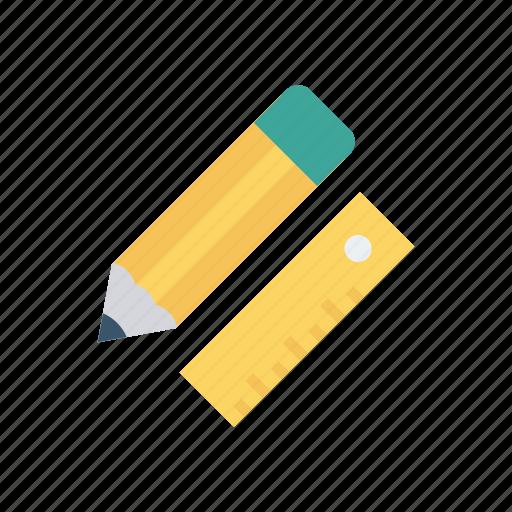 edit, measure, pencil, ruler icon
