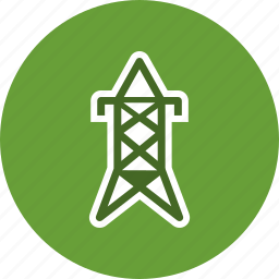 electric tower, electricity, power, tower icon
