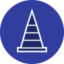 cone, construction, road, traffic icon
