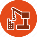 building, construction, crane, machine icon