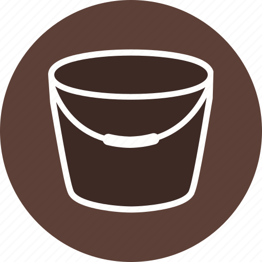 bucket, container, pail, painting, water icon