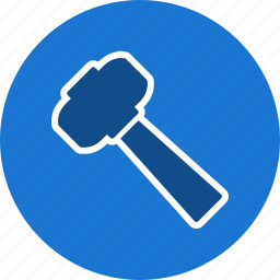 construction, hammer, law, repair, tool icon