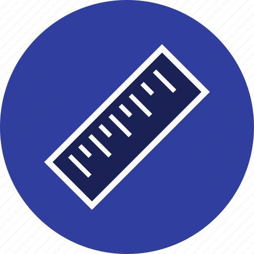 geometry, measurement, ruler, tool icon