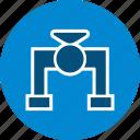 pipe, plumbing, tap, valve, water icon