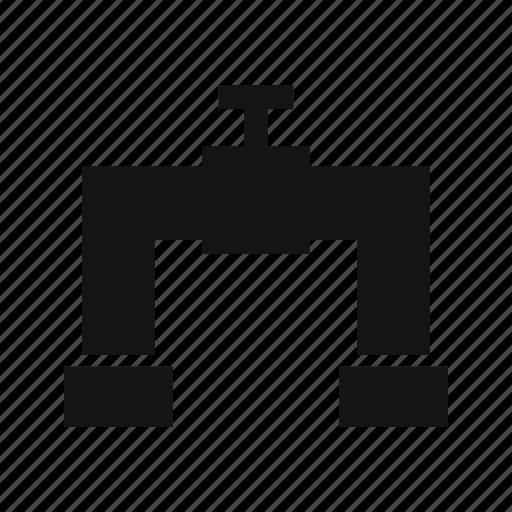 flow, pipe, supply, valve icon