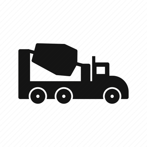 concrete, construction, mixer, vehicle icon