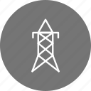 electric tower, power icon