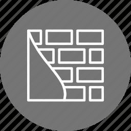 brick wall, construction, damage, wall, work icon