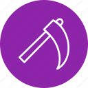 construction, farming, scythe, tool icon