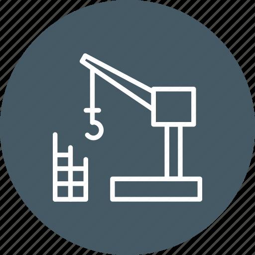 building, construction, crane, machine, repair icon