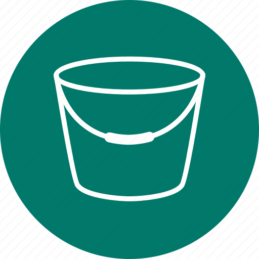 bucket, pot, water icon