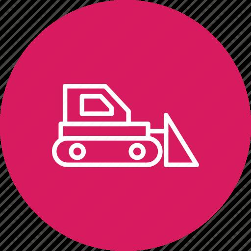 bull dozer, bulldozer, construction, machine icon