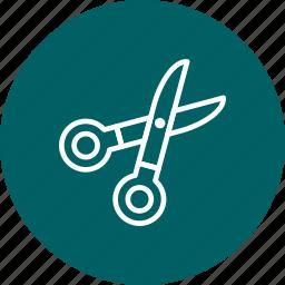 cut, cutting, edit, scissor icon