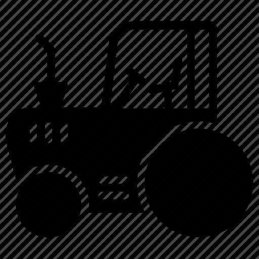 compact tractor, farm equipment, farming tractor, garden tractor, tractor icon