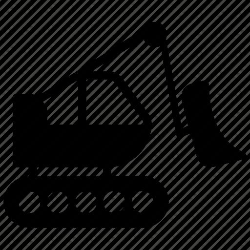 caterpillar excavator, crane excavator, excavator, hydraulic excavator, mini excavator icon
