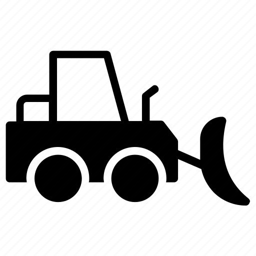 bucket loader, bulldozer, compact tractor, skid loader, skid steer icon