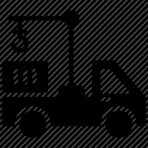 crane vehicle, hydraulic crane, hydraulic truck, mobile crane, truck crane icon
