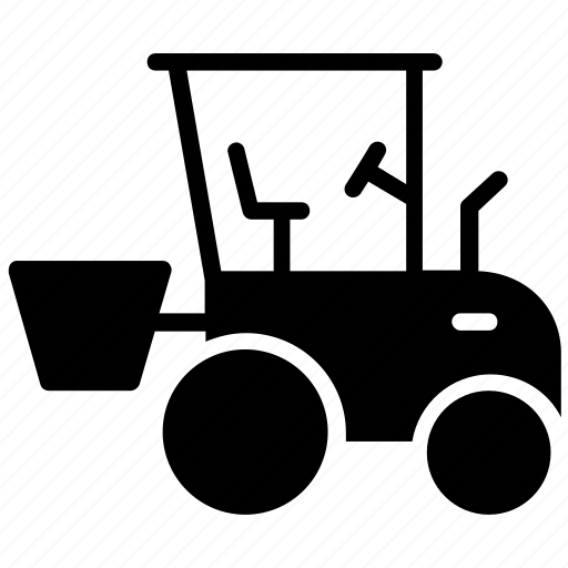 bucket loader, compact tractor, skid steer, tractor loader icon