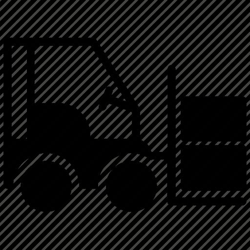 forklift, industrial forklift, industrial truck, lift truck, warehouse forklift icon