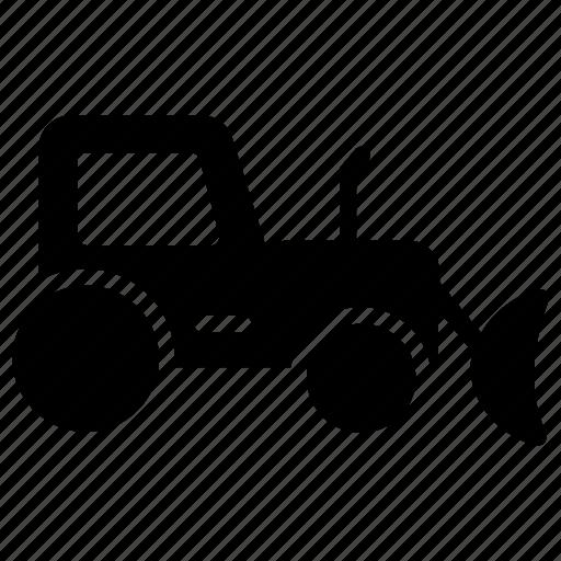 bucket loader, bucket tractor, compact tractor, skid steer, tractor loader icon