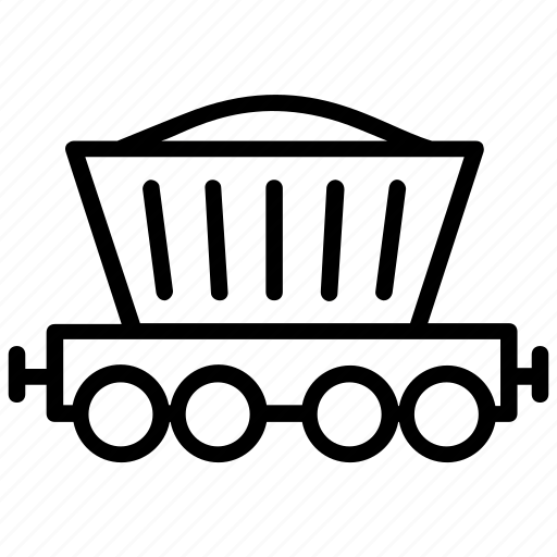 coal mining, construction trolley, mine trolley, minecart, slab trolley icon