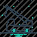 construction, construction crane, crane, crane truck, truck, vehicle icon