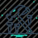 hammer, hammer and nail, hardware, nail, tool icon