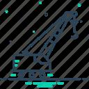 crane, lifting, lifting crane, pneumatic, vehicle