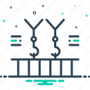 crane, machinery, manufacturing, overhead, transportation icon