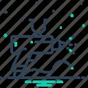 airbrush, gun, nozzle, spray, spray gun icon