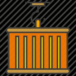 cargo, container, hang, shipping icon
