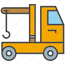 car, crane, hang, loading, truck, vehicle icon