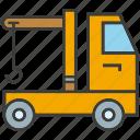 car, crane, hang, loading, truck, vehicle