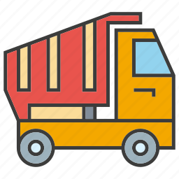 drive, dump, equipment, heavy, loading, truck, vehicle icon