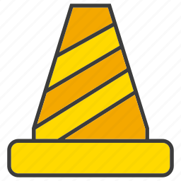 cone, construction, under construction icon