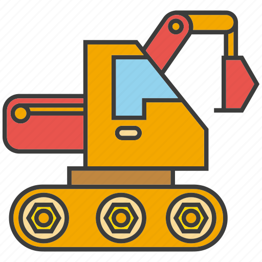 dig, digger, equipment, excavation vehicle, heavy, industry, machine icon