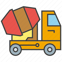 car, concrete, equipment, mixer, truck, vehicle icon