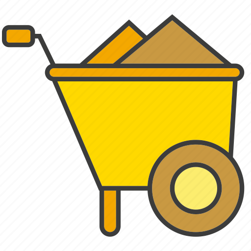 cart, equipment, industry, mine icon