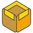 box, carton box, goods, product, shipping icon