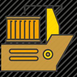 cargo, container ship, ship, shipping, vessel icon