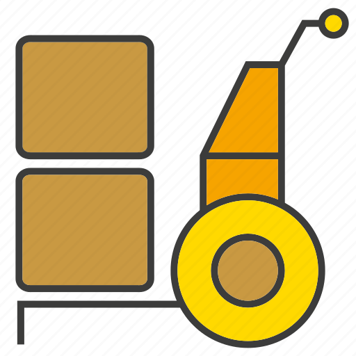 box, cart, goods, product icon