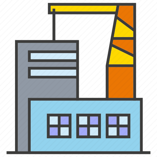building, crane, factory, tower icon