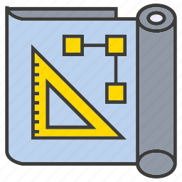 design, document, draft, paper, ruler icon