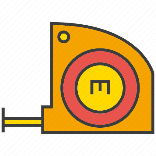 meter, ruler, scale, tool icon