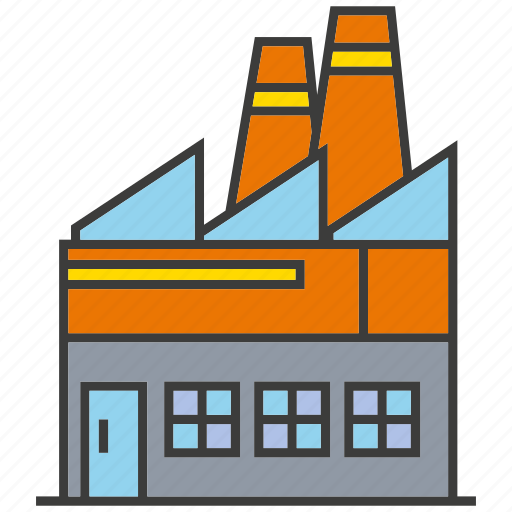 building, factory, industry icon